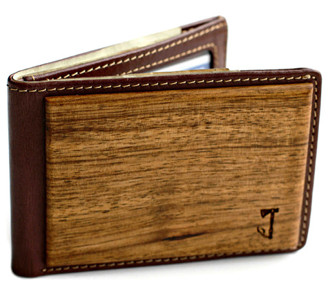 Slim Timber 'Zebrawood Bifold' wallet
