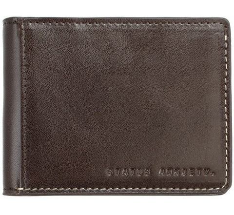 Picture of Status Anxiety 'Ethan' wallet in chocolate
