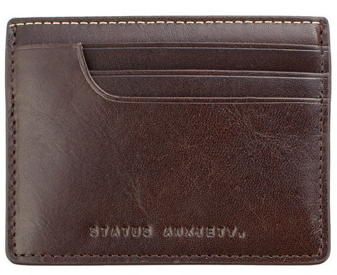 Picture of Status Anxiety 'Isaac' card holder in brown