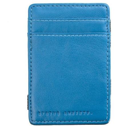 Picture of Status Anxiety 'Flip' wallet in blue