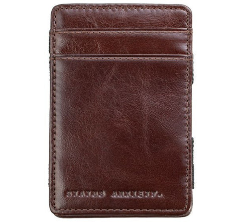 Picture of Status Anxiety 'Flip' wallet in brown