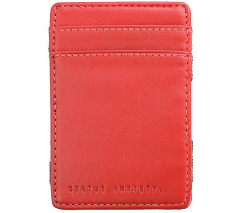 Picture of Status Anxiety 'Flip' wallet in red