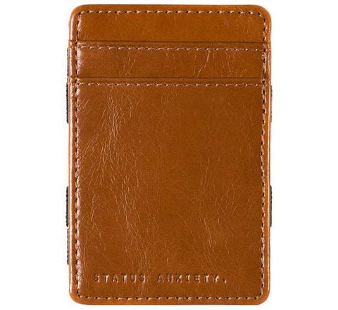 Picture of Status Anxiety 'Flip' wallet in tan