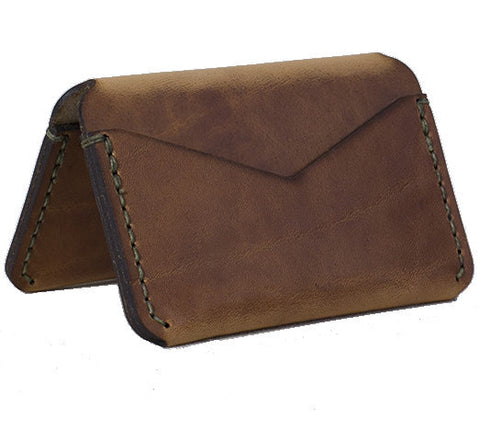 Picture of Winter Session 'Triple Card Case' wallet in tabacco brown