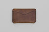 Winter Session 'Triple Card Case' wallet in tabacco brown