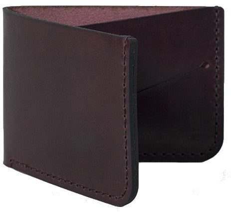 Picture of Winter Session 'Billfold' wallet in burgundy