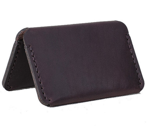 Picture of Winter Session 'Double card case' wallet in burgundy