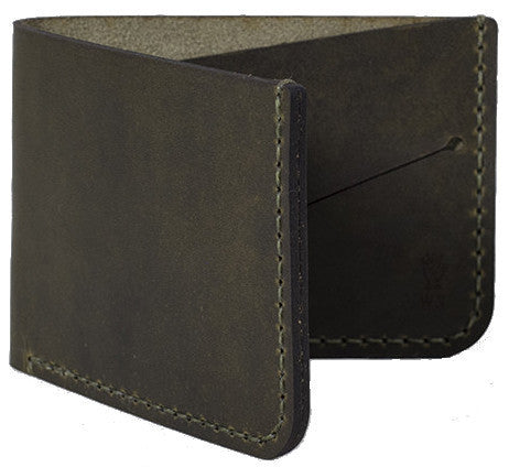 Picture of Winter Session 'Billfold' wallet in olive green