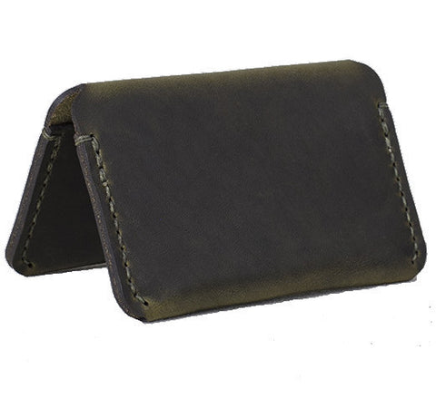 Picture of Winter Session 'Double card case' wallet in olive green