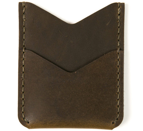 Picture of Winter Session 'Slash Wallet' card holder in olive