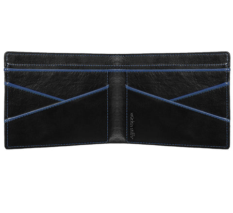 Wurkin Stiffs RFID wallet in black / blue