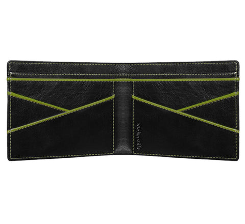 Wurkin Stiffs RFID wallet in black / green