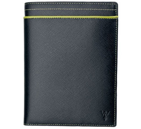 Wurkin Stiffs RFID blocking passport holder in black/green