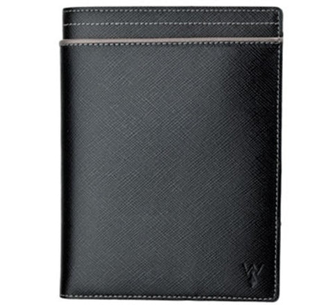 Wurkin Stiffs RFID blocking passport holder in black/grey