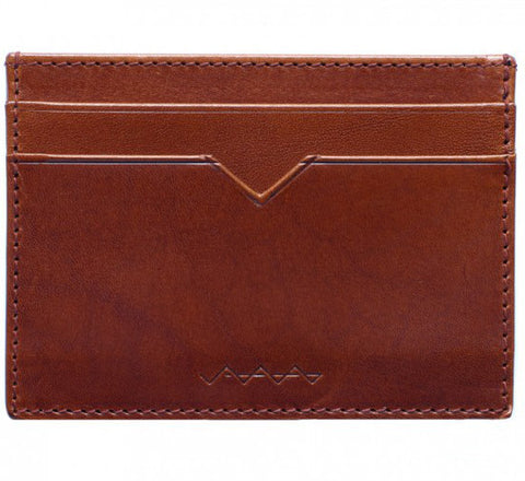 Picture of Berg & Berg Vachetta leather card holder in toffee brown