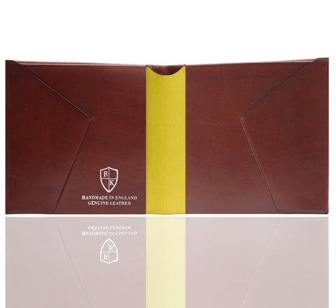 Picture of Bond and Knight wallet in chesnut and yellow