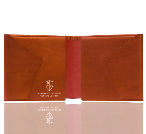 Picture of Bond and Knight wallet in tan and red