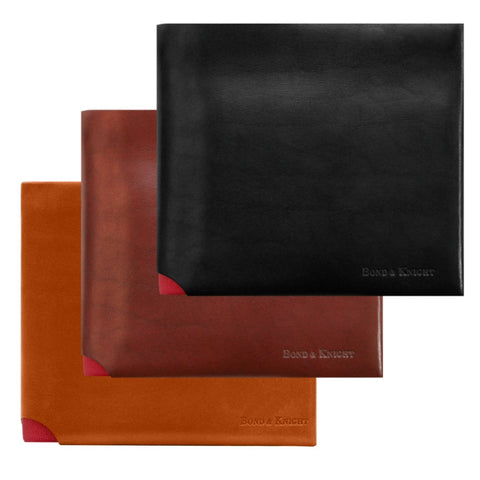 Bond and Knight wallet in tan and red