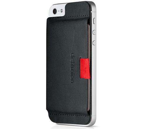 Picture of Distil Union Wally Stick-On iPhone 5/5S/5C wallet case in black