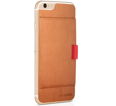Picture of Distil Union Wally Stick-On iPhone 6 wallet case in brown