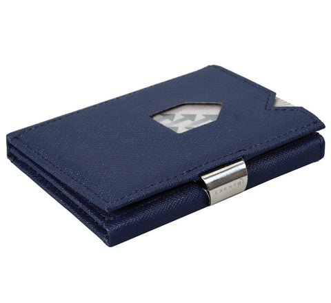 Picture of Exentri wallet in saffiano blue