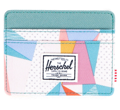 Picture of Herschel card holder 'Charlie' in quilt / seafoam