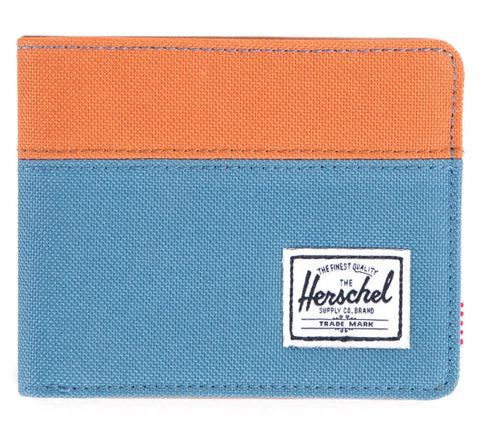 Picture of Herschel wallet 'Hank' in cadet blue / carrot