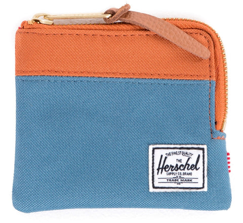 Picture of Herschel wallet 'Johnny' in cadet blue / carrot