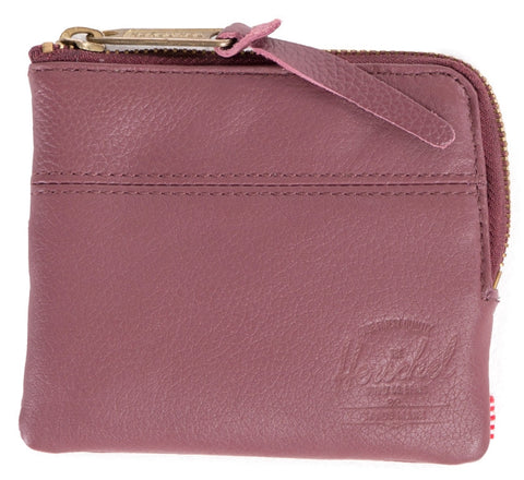 Picture of Herschel wallet 'Johnny Leather' in berry