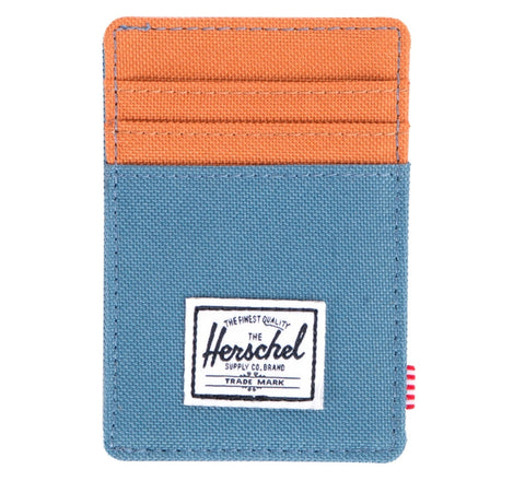 Picture of Herschel card holder 'Raven' in cadet blue / carrot