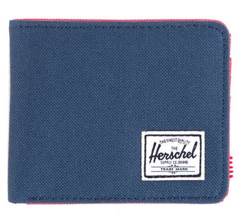 Picture of Herschel 'Roy' wallet in navy / red