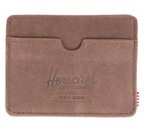 Picture of Herschel card holder 'Charlie Leather' in nubuck