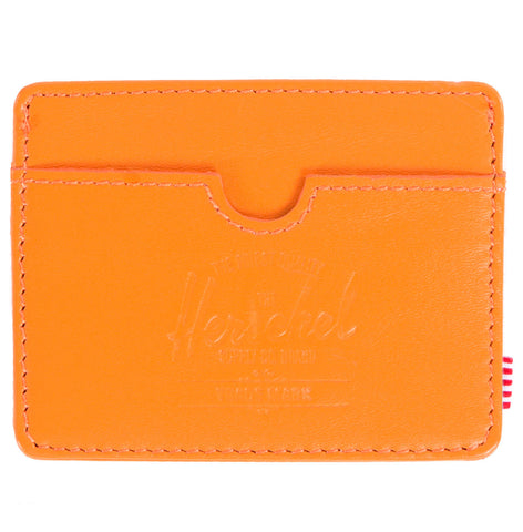 Picture of Herschel card holder 'Charlie Leather' in orange