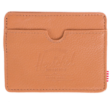 Picture of Herschel card holder 'Charlie Leather' in tan
