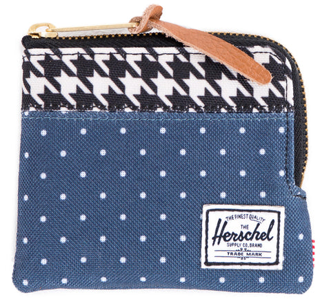 Picture of Herschel wallet 'Johnny' in polka dot / houndstooth