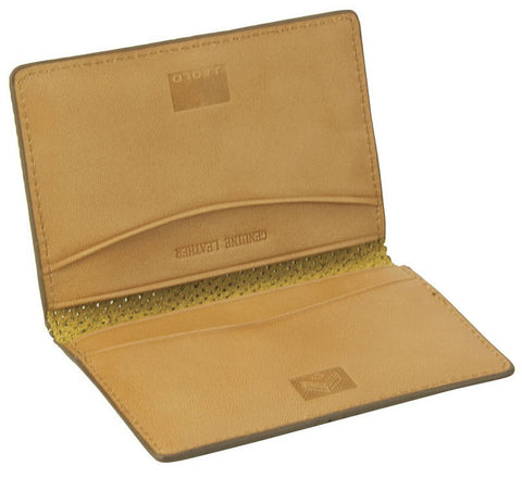 J Fold 'Microperf' card holder in brown
