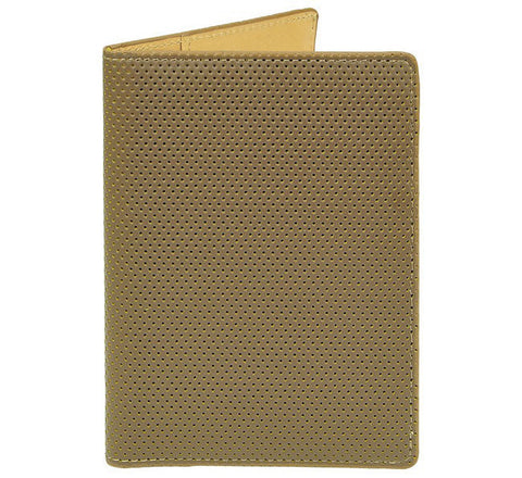 Picture of J Fold 'Passport Carrier' passport wallet in brown/yellow