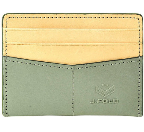 Picture of J Fold 'Thunderbird' card holder in grey/natural