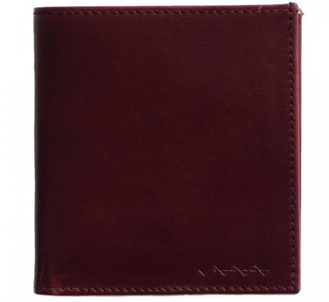 Picture of Berg & Berg suede lined wallet in oxblood red