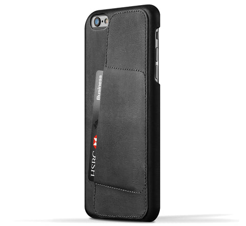 Picture of Mujjo 'Wallet Case 80°' iPhone 6 plus phone case wallet in black