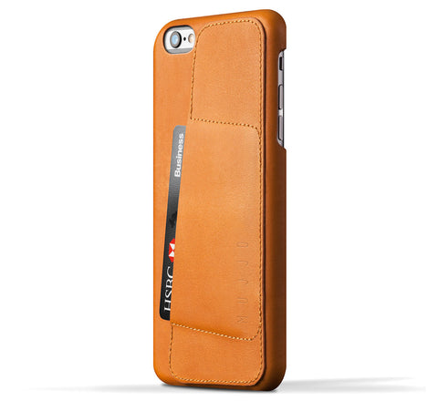 Picture of Mujjo 'Wallet Case 80°' iPhone 6 plus phone case wallet in tan