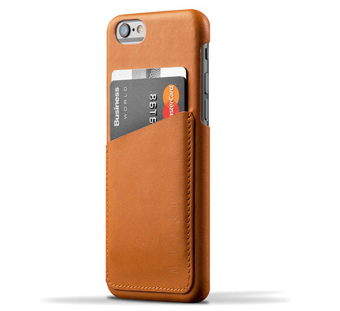 Picture of Mujjo iPhone 6/6S wallet case in tan