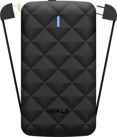 iwalk power duo 3000 black portable battery charger