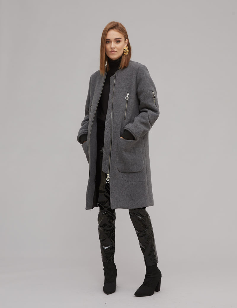 BELVA ZIP COAT