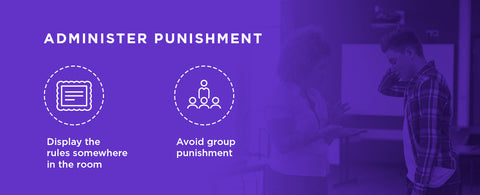 Tips for administering punishment to students.