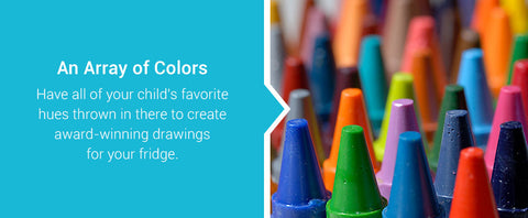 give your child a variety of colors to draw with
