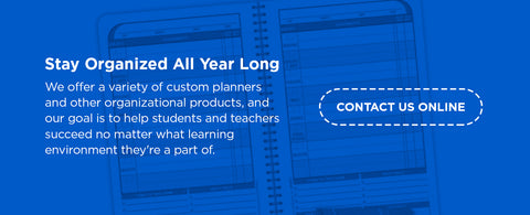 stay organized year-round with student planners