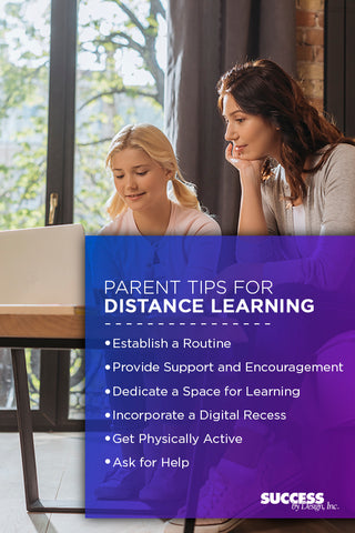Parent tips for distance learning.