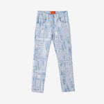 将图片加载到图库查看器,WHO DECIDES WAR Distressed Storm Embroidered Denim BY EV BRAVADO - Trendy Maker