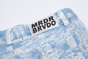 WHO DECIDES WAR Distressed Storm Embroidered Denim BY EV BRAVADO - Trendy Maker